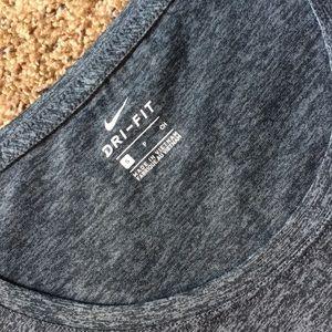 🌵 NIKE dri fit small gray polyester T shirt